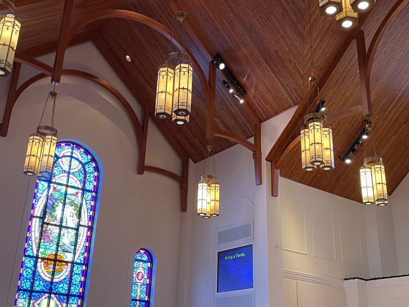Image for Lake Magdalene United Methodist Church (LMUMC) Sanctuary Lighting Study post